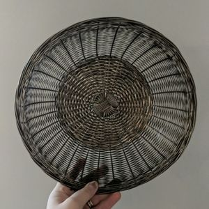 Vintage Metal Woven Silver Plated? Catch Basket